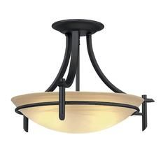 Foyer light - 20 in. Semi-Flush Mount, Old Weathered Bronze Finish Home Depot Canada