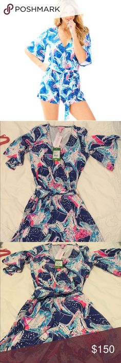 NWT Lilly Pulitzer Madilyn Romper XXS Brand new Lilly Pulitzer romper with tags. No stains, smoke free home. Material is slightly stretchy, super cute for the summer! Selling this one because I received as a gift for my birthday and already owned it! Lilly Pulitzer Dresses