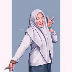Pop Art Images, Anime Muslim, Beautiful Hijab, Screen Wallpaper, Cartoon Art, Vector Art, Ulzzang, Islam, Fanart