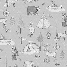 Fototape Camping Trip, Grey, personalizat, Rebel Walls