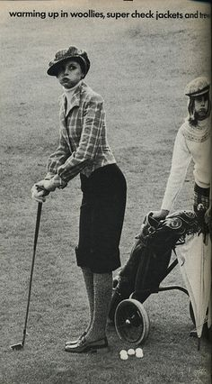 So chic.  I'd love some plus fours if anyone knows where I can get any from, or has a pattern for them? 70's golf chic.