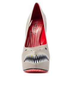 Taylor Says Grey Sharkie Heels - There is no need to feel threatened or fear these 'Taylor Says Grey Sharkie Heels' because the only danger they offer comes in the form...