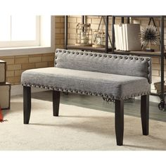 with different fabric-padded dining bench with low back - google