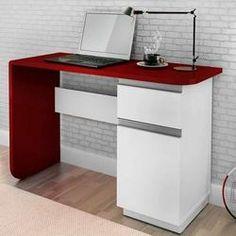 Escrivaninha Office Click Branco  Vermelho