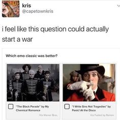 You can't just ask a question like that
