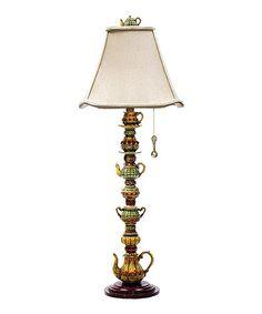 Look at this #zulilyfind! Tea Candlestick Table Lamp #zulilyfinds