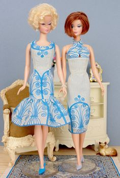 Blue Keefe for Barbie Poppy Parker & Victoire Roux by HankieChic