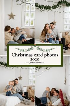 Check Christmas card photo background and props for 2020. Inspiration and new ideas to studio. Photography Portfolio, Family Photography, Christmas Photo Cards, Jenni, Photo Backgrounds, Photoshoot, Studio, Frame, Check