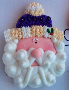 use this as a guide for making a clay Santa ornament....like how this looks