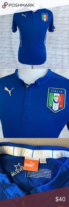 Italy national team soccer jersey Authentic Italy national jersey. In perfect condition. Runs small. Puma Shirts