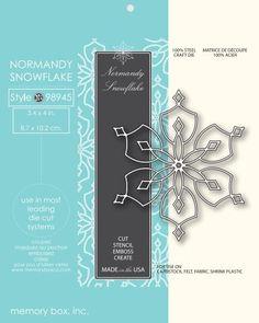 Memory Box Die NORMANDY SNOWFLAKE 98945