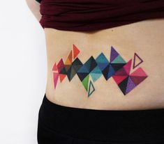 With geometric tattoos being so hip and fresh, it's easy to think people became fascinated by simple lines and shapes overnight.But the truth couldn't be any further from the case.So what are geometric designs, where did they originate, what do they mean, and what should you consider before getting a geometric tattoo? Cool Back Tattoos, Back Tattoo Women, Girl Leg Tattoos, Tattoos For Guys, Unique Tattoos For Women, Best Sleeve Tattoos, Geometric Designs, Tattoo Designs, Color Tattoos