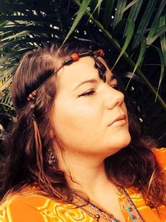 Tribal Priestess - Bohemian - Recycled Headpiece <3