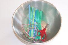 Cutting Straws developing scissor skills