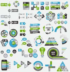 Infographic elements material vector set 04