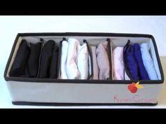 Dicas de Organizaçāo - Como dobrar lingerie