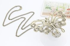 New Style  Shiny HoSwallow Butterfly Shaped Pendant Necklaces