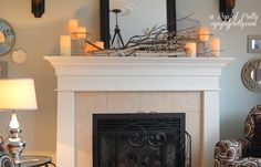 christmas decorations for the mantel | Late Fall Mantel Decor - A Pop of Pretty: Canadian Decorating Blog | A ...