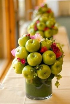 Centrotavola matrimonio con mele