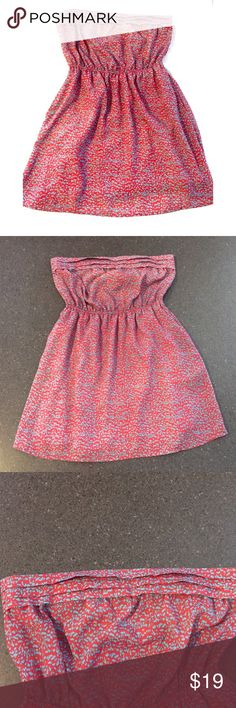 "listing! Strapless Tunic/Dress size M Adorable for summer! Strapless tunic/dress by Mimi Chica size medium.  Bust 16.5"" laying flat. Length is 25"" in the front and 27.5"" in the back. 100%polyester she'll and lining. Mimi Chica Tops Tunics"