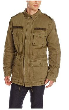 Alpha Industries Men's M-65 Marcher Field Coat (Olive) - Price: $82.50 The jacket features a hood that buttons off to make a sports jacket style collared field coat. The shoulder epaulettes as well as camo specifics incorporate modern styling to this modified m-65 field jacket. The waist is changeable and incorporates bottom drawstrings. http://topstreetwearclothingbrands.com/iconic-m-65-field-coat-from-alpha-industries/  #M-1965 Field Jacket #military  jacket #field coat