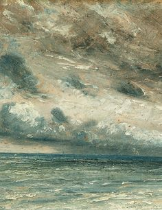 Stormy Sea, Brighton (detail), John Constable, 1828.