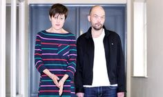 Everything But the Girl's Tracey Thorn and Ben Watt, photographed in Camden, north London for the Observer New Review. Photograph: Katherine Rose for the Observer