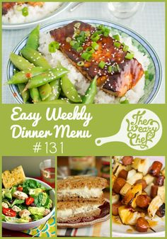 Hot Dog Kebabs, Salmon Teriyaki, and Artichoke Dip Grilled Cheese Sandwiches are just a few of the easy dinners in this week's menu!