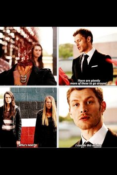 Vampire Diaries. I'm learning to love Klaus a whole lot more.