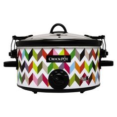 Crock-Pot® Cook 'N Carry® 5-Quart Manual French Bull Slow Cooker » So much fun, love the pattern.