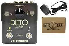 The Ditto X2 Looper Effects Pedal from TC Electronic is capable of providing up to 5 minutes of looping time with integrated and selectable reverse and 1/2 speed effects. It features streamline contro...