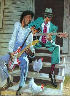 Buddy Guy & John Lee Hooker<3 Art.