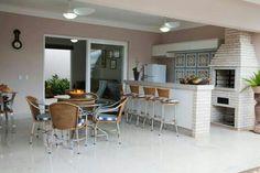 Area de lazer Sweet Home, Interior Architecture, Interior Design, Backyard Pool Designs, Ideal Home, Outdoor Living, Kitchen Design, Outdoor Furniture Sets, Pergola
