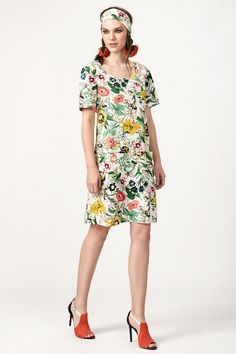 PLS fashion : Φόρεμα εμπριμέ με τσέπες (7023) Short Sleeve Dresses, Dresses With Sleeves, Linen Dresses, Fashion, Moda, Sleeve Dresses, Fashion Styles, Gowns With Sleeves, Fashion Illustrations