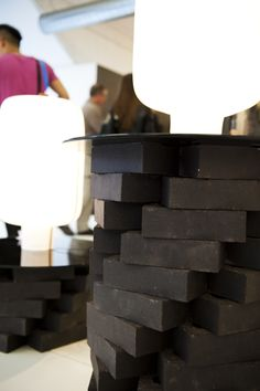 Ian Howlett's Lacuna Brick Lights exhibited at London's Design Festival use MBH handmade products and encapsulates local craft values.