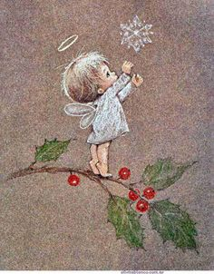 Little Angel ~ Artist Ruth Morehead Vintage Christmas Cards, Christmas Pictures, Vintage Cards, Christmas Angels, Christmas Art, Winter Christmas, Xmas, Christmas Thoughts, Christmas Poinsettia