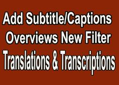Add subtitles to video online online pinterest video subtitle how to add subtitles to youtube videos online translations and transcri ccuart Gallery