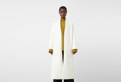 Cotton wool-blend coat