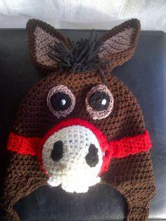 Donkey Hat by DopteraDesigns on Etsy, $36.00