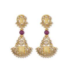 Contemporary Padakam Earrings reminiscent of Rajasthani padakan jewelry