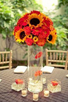 Sunflower Centerpiece - Centrotavola Girasoli e Frutta - Matrimonio Rustico