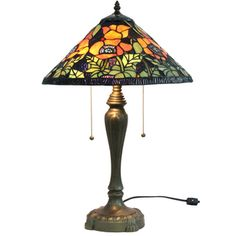 @Overstock - This gorgeous 'Poppies' Tiffany style table lamp is a stunning piece made with more than 480 hand-cut pieces of glass soldered into a beautiful shade. This piece is handcrafted using the same techniques that were developed by Louis Comfort Tiffany.http://www.overstock.com/Home-Garden/Poppies-Handcrafted-Stained-Glass-Tiffany-Style-Table-Lamp/7315877/product.html?CID=214117 $124.19