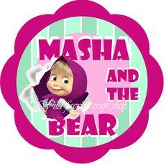 Resultado de imagem para masha and the bear birthday decorations Marsha And The Bear, Summer Party Games, Bear Cupcakes, Personalised Cupcakes, Bear Theme, Bear Party, Bear Birthday, Cupcake Party, Bear Toy