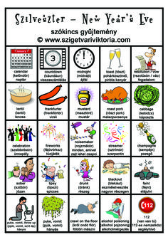 Szigetvári Viktória - SZILVESZTER szókincs gyűjtemény - angol nyelvtan, angol tanulás Posh English, Christmas Worksheets, Picture Dictionary, English Phrases, English Study, Teaching English, Vocabulary, School, Ideas