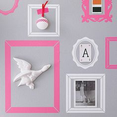 pack of seven picture frame wall stickers by nutmeg | notonthehighstreet.com