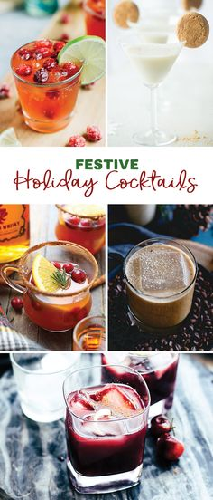 Warm your soul with a homemade cocktail this holiday season! From a hot toddy to a martini, you've got options!