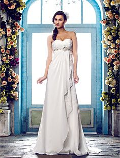 A-line Sweetheart Sweep/Brush Train Chiffon Wedding Dress (6... – GBP £ 59.22
