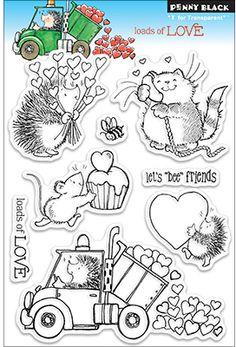 "Wholesale Penny Black Clear Stamp 5""X7.5"" Sheet-Loads Of Love (SKU 1467596) DollarDays"