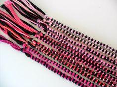10 Pink and Black Friendship Bracelets  by ClamBoneBracelets, $13.50