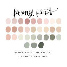 Colour Pallette, Colour Schemes, Color Combos, Neutral Color Palettes, Website Color Palette, House Color Palettes, Peony Root, Root Color, Colour Board